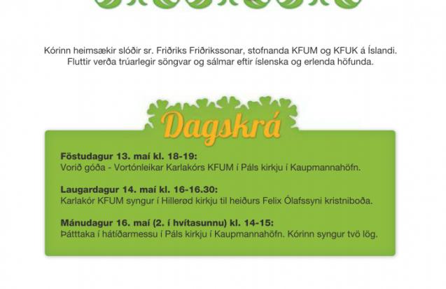 Kórferðalag Karlakórs KFUM til Danmörku