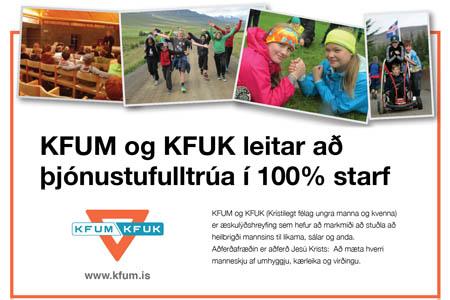 KFUM og KFUK leitar að þjónustufulltrúa í 100% starf