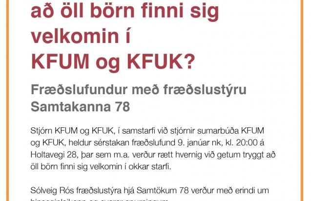 Hvernig getum við tryggt að öll börn finni sig velkomin í starf KFUM og KFUK?